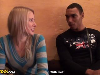 Blonde girl sex adventure in a cafe-1