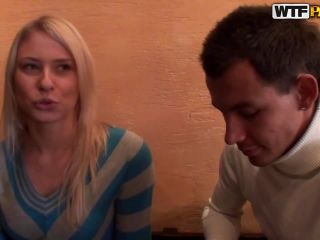 Blonde girl sex adventure in a cafe-3