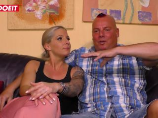 AMATEUR EURO - Busty amateur MILF Samy Fox has intense sex on the couch on her first sex tape ever-0