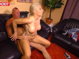 AMATEUR EURO - Busty amateur MILF Samy Fox has intense sex on the couch on her first sex tape ever-7